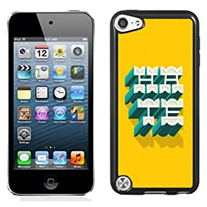 Fashionable Custom Designed Cover Case iPod Touch 5th With 3D Hate Text Effect Phone Case Cover