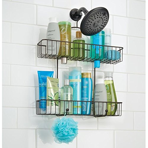 Mdesign Extra Wide Bathroom Tub Shower Caddy Hanging Storage
