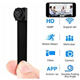 Hidden Spy Camera 1080P WiFi Mini Camera Portable Wireless Security Cameras with Motion Detection Alarm Remote Home Covert Nanny Cam Support iOS/Android/PC(Upgraded Version)