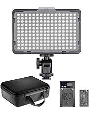 Neewer 176 LED Eclairage Kit: 176 LED Panneau Réglable, avec Batterie Li-ION 2600mAh, USB Chargeur et Etui de Transport pour Photographie Produit et Portrait