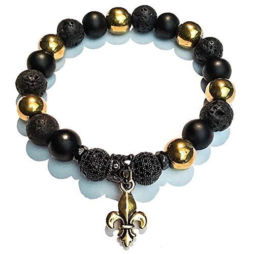 New Orleans Saints Beaded Bracelet