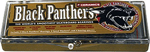 SHORTYS BLACK PANTHERS CERAMIC BEARINGS single set by Shorty's (Shorty Ceramic)