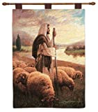 kess in house bedding - Manual Inspirational Collection 26 X 36-Inch Wall Hanging and Finial Rod, Good Shepherd by Greg Olsen
