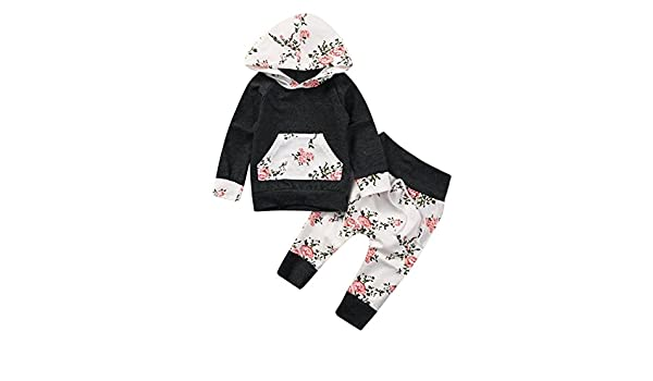 42af54247 Amazon.com  Bokeley 2pcs Toddler Outfits Infant Baby Clothes Floral ...
