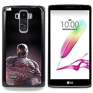 "Qstar Arte & diseño plástico duro Fundas Cover Cubre Hard Case Cover para LG G4 Stylus H540 (Crisis Future Soldier"")"