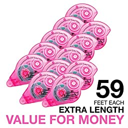 Fullmark Back To School Value Pack,Adhesive Roller Model C Pink,10-pc + 2 FREE Extra Adhesive Roller worth 6.99 each