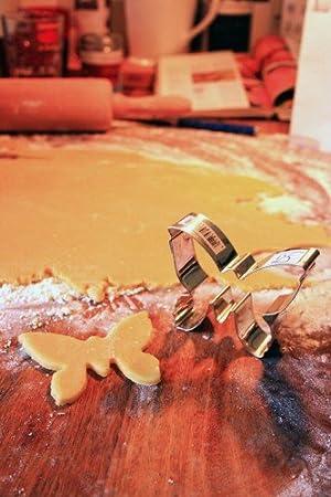 Acero Inoxidable 3 cm Plateado Staedter Mariposa Forma Cortador de Galletas Plata
