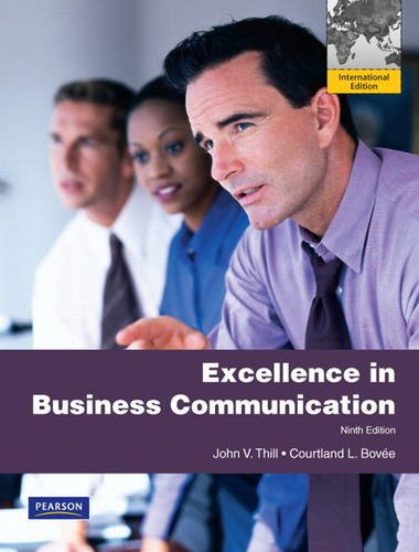 Excellence in Business Communication: International Version