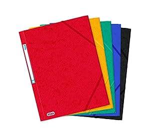 Elba 43198901 - Carpeta con gomas y solapa interior (tamaño folio/A4, 500 g, capacidad para 300 hojas, 10 unidades), colores variados