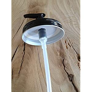 Mason Jar Soap/Lotion Dispenser Lids Wholesale 10 Pack - All Black