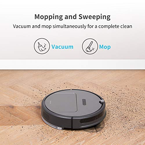 roborock E35 Robot Vacuum and Mop: 2000Pa Strong Suction, App Control, and Scheduling, Route Planning, Handles Hard Floors and Carpets Ideal for Homes with Pets