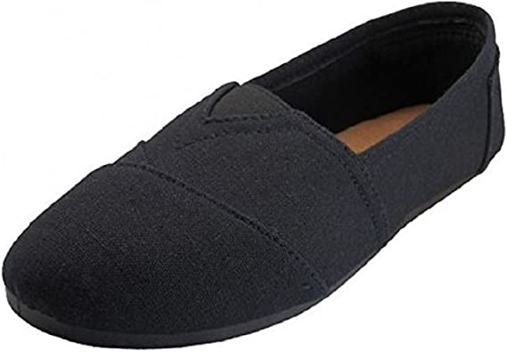 Anig Shoes Womens Canvas Slip on Shoes Flats