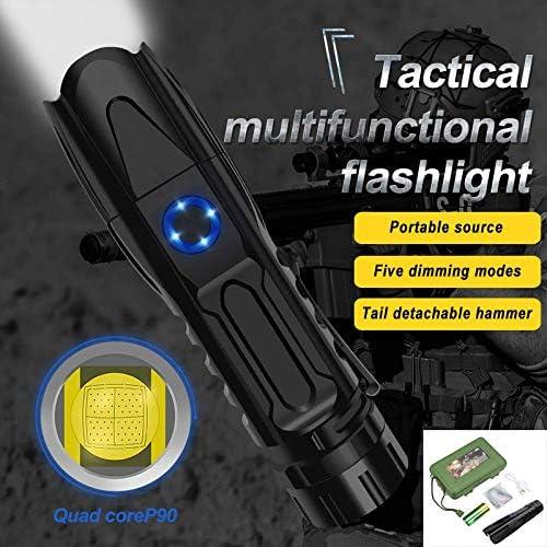 5 Modus XHP90.2 Leistungsstarke LED-Taschenlampe Konvoi-Licht 50000lm Laterne Tactical Camping wasserdichte Taschenlampe Escape