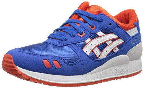 ASICS Tiger Gel Lyte III GS Retro Running Shoe (Big Kid), Strong Blue/White, 5 M US Big Kid
