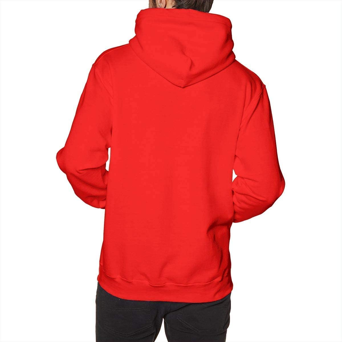 YCR4FC Mens Thin Lizzy Pullover Hoodie Hooded Sweatshirt Red XX Large