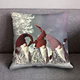 LENXH Christmas hug pillowcase fashion pillowcase office pillowcase polyester pillowcase 4545cm
