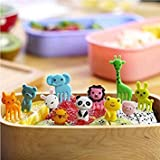 Liangxiang Cute Cartoon Animal Food Fruit Picks Forks Bento Box Lunch Box Decor Pack of 10/8 PCS (Stype 1( 3 Set, 30 pcs))