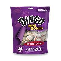 Dingo Mini Bones, cuero crudo para perros pequeños /de juguete, 35 unidades
