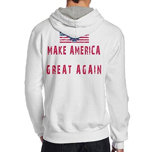 Men Make America Great Travel Cool Hoodie Hoodies Size XXL White