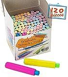 Chalkboard Chalk 118 Pack Non-Toxic Dustless Chalk and Colored Dustless Chalk+2 Chalk Holder