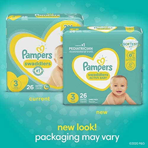 51e5WgsdB8L. AC Baby Diapers Newborn/Size 1 (8-14 lb), 198 Count - Pampers Swaddlers, ONE MONTH SUPPLY (Packaging and Prints on Diapers May Vary)    Wrap your baby in our softest comfort with Pampers Swaddlers diapers. Designed to keep skin dry and healthy, Pampers Swaddlers are the only diapers with a BreatheFree Liner that wicks away wetness and mess, allowing your baby's skin to breathe. Specially designed with your baby's comfort in mind, our Soft Flexi-Sides provide a soft cushiony stretch for a secure and comfortable fit. Plus, our Pampers Wetness Indicator lets you know when your baby might need a change, to help keep baby's skin dry and healthy. For protection that's gentle on your baby's skin, Pampers Swaddlers is hypoallergenic and free of parabens and latex.* And when your baby is new to the world, our Umbilical Cord Notch** provides a perfectly contoured fit that protects their delicate belly. That's why Pampers Swaddlers are the #1 Choice of U.S. Hospitals, Nurses and Parents†. For trusted protection, trust Pampers, the #1 U.S. Pediatrician Recommended Brand. *Natural rubber. **Sizes N–2. †Hospitals: based on hospital sales data; nurses: vs. other hospital brands, among those with a preference; parents: based on retail sales.