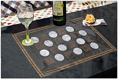Kuber Industries™ Dining Table Placemats Set Of 6 Pcs (Laminated Patch Design) Copper