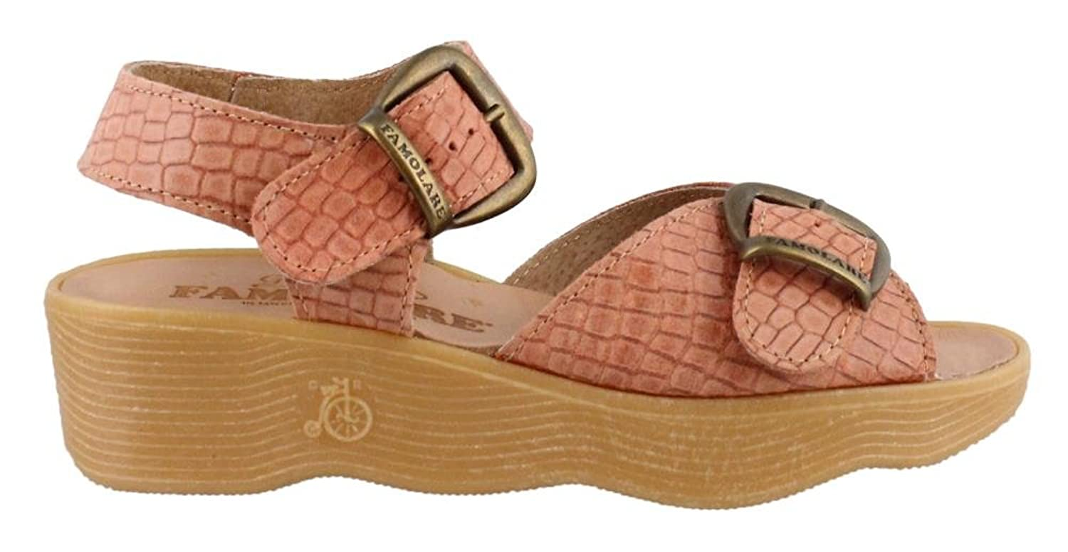 Famolare Women's Double Play Wedge Sandal, Color Salmon, Size: 7 M B078ZGS61X Parent