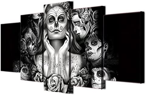 SKULL TATTOO POSTER ABSTRACT ART TRIPPY IMAGE  GIANT PRINT ART