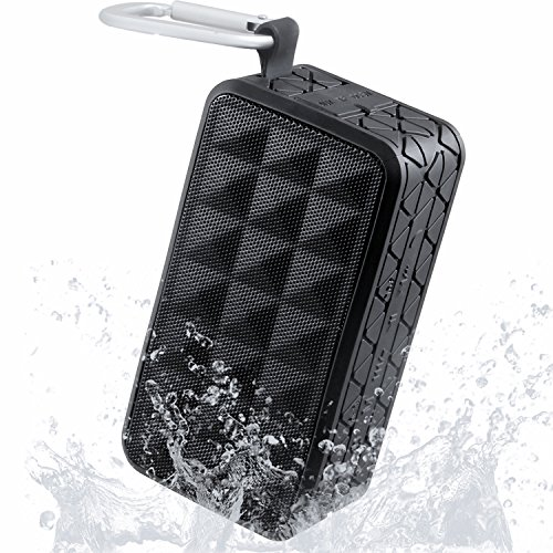 Kingstar Outdoor Sports Bluetooth Speakers,Portable Square Waterproof Wireless Ultra Stereo 4.0 Rechargeable Shower Speaker with Hands-free Phone Call Carabiner Hook for Climbing Cycling