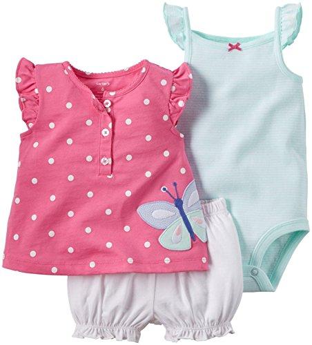 3 Piece Diaper Set - Carter's 3 Piece Diaper Cover Set, Pink Butterfly, 12 Months