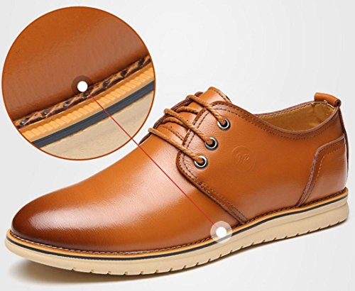 Vestir Para Mlsopx Negocios 40 Transpirables Hombre De Yellow Zapatos Cuero Ax0wn0qXg