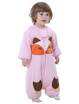 a9e87bfb4246b Happy Cherry 2 en 1 Pyjama Grenouillères Combinaison Enfant Bébé Fille  Garçon - Sac de Couchage