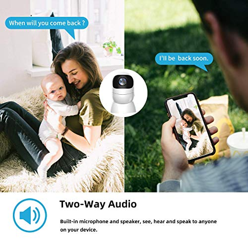 Wireless Rechargeable Battery Powered Security Camera, SAFEVANT 1080P Outdoor Camera Indoor Baby Monitor with 2 Way Audio,Siren Alarm,PIR Motion,Night Vision,Waterproof,Cloud Service,MicroSD Card Slot