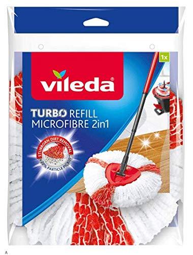 Vileda Easy Wring & Clean Turbo 2 en 1 Mopa Microfibra cabeza, Rojo Pack de 2: Amazon.es: Hogar