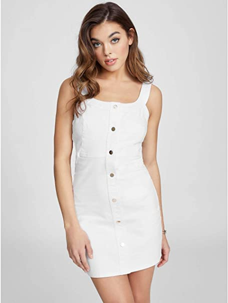 e215e3c25f G by GUESS Women s Ivanna Button-Front Denim Dress at Amazon Women s ...