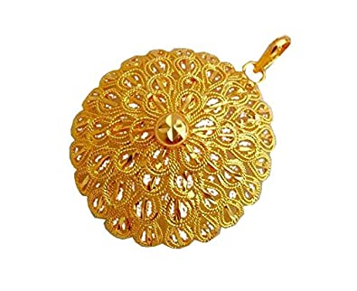 Buy bfc traditional ethnic one gram gold plated flower designer bfc traditional ethnic one gram gold plated flower designer pendant for woman and girls mozeypictures Choice Image