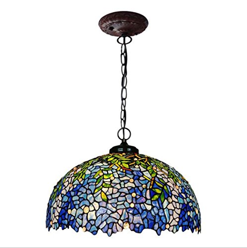 - Tiffany Style Pendant Lamp,20-inch Wisteria Design Glass Art Chandelier,living Room Bedroom Diningroom Pendant Lights