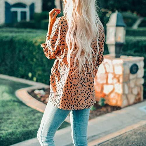 シャツ レディースVネック ヒョウ柄 おしゃれ ベーシック スプライシング 五分袖 シフォン スリング ベスト トップ ブラウス Tシャツ シフォ ンシャツ セクシー 上着 女性 ファッション 夏 海 かわいい 夏秋着服