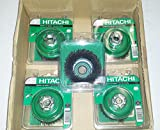 5-Pack Hitachi 729211 3-Inch Crimped Carbon Steel Wire Cup Brush, 5/8''-11 Arbor