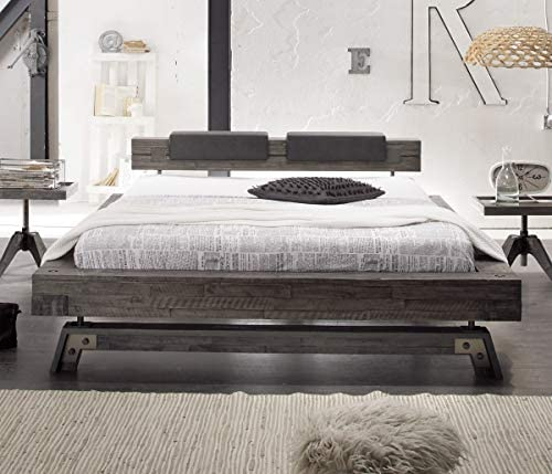 Somier de madera de acacia HASENA Factory Line vintage grey 180 x 200