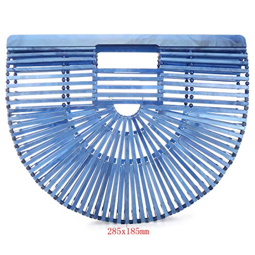 Handmade Purse Clutch Handbag Womens Ark Acrylic IBELLA Fq4B0