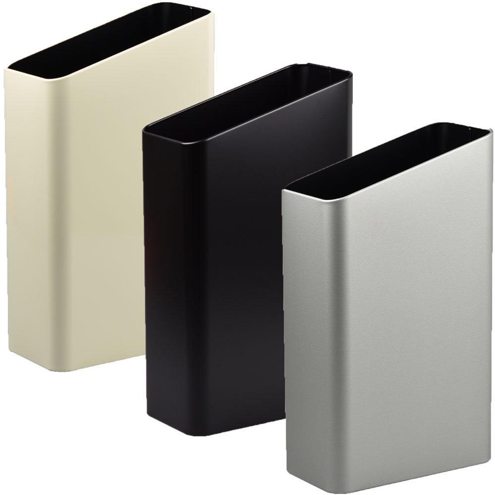 ぶんぶく サイドバケット 大 全9色の中から選べる3個セット ゴミ箱 ごみ箱 ダストボックス おしゃれ 日本製 (アイボリー×ブラック×シルバーメタリック) B075GF7H4X アイボリー×ブラック×シルバーメタリック アイボリー×ブラック×シルバーメタリック