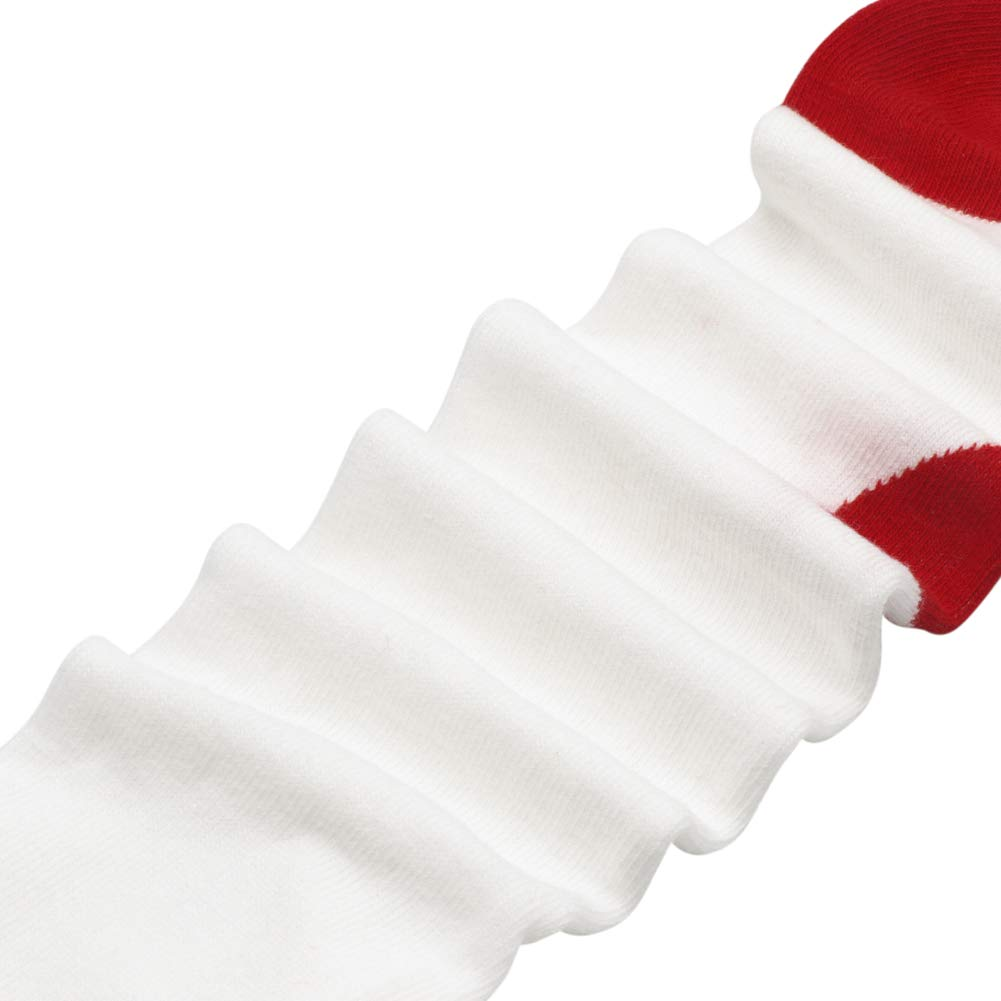 Ehdching Lovely White-Red Heart Knit Legging Pant Tights for Newborn Baby Infant Toddler Girls