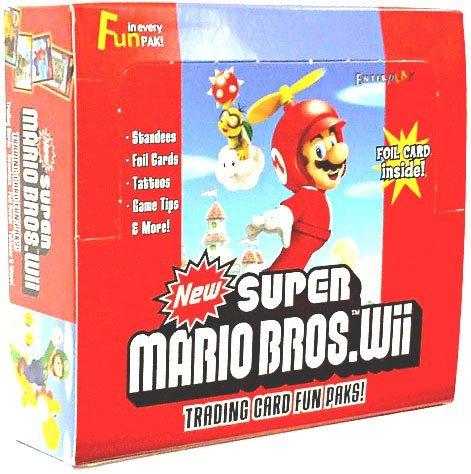 Super Mario Bros. Wii Enterplay Trading Card Fun Pak Box 24 Packs