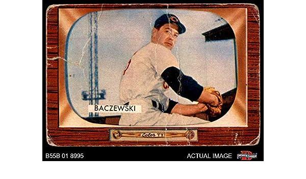 Amazoncom 1955 Bowman 190 Fred Baczewski Cincinnati Reds