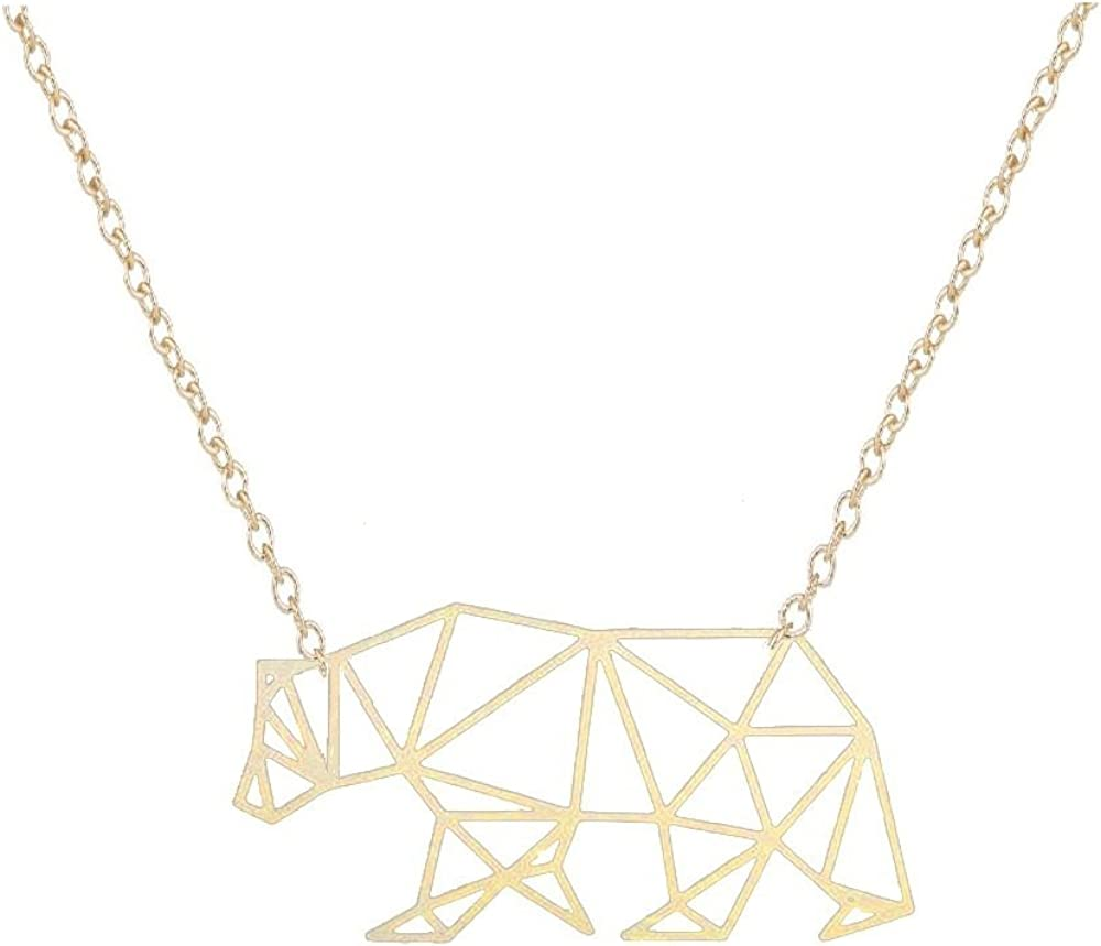 NOUMANDA Cute Polar Bear Pendant Necklace Delicate Bear Nature Animal Elements Fashion Jewelry Gifts