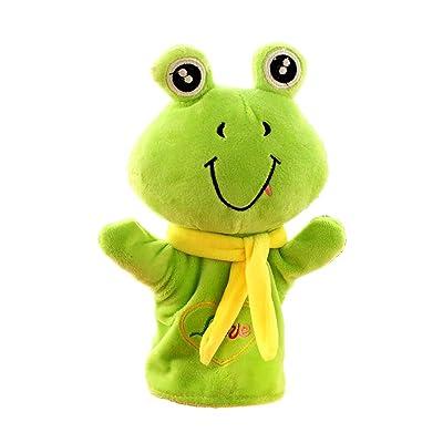 """Juguetes de los niños Marionetas de mano de animales, material de felpa suave, juguetes de felpa de rana de 10 """", juguetes clásicos / inspira creatividad / gestos animados / artículo de regalo maravil: Hogar"""