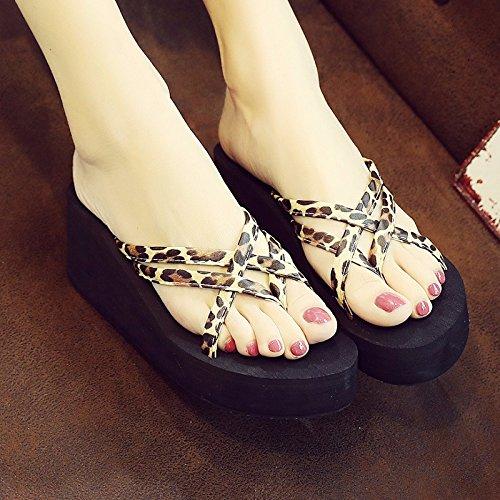 Il e pantofole piedi fondo flop XIAOGEGE spesso Multicolor donna pendenza flip Rw4xqA7d