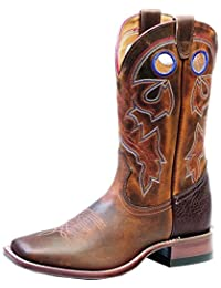 Boulet Western Boots Womens Rider Stockman Laid Back Tan Spice 4755