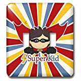3dRose LSP_251757_2 Superhero Boy is a Super Kid with Cape and Colorful Starburst Toggle Switch,